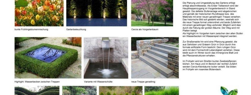 Beispiel Vorentwurf Gartenplanung